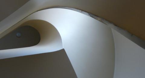 Design trappenhuis anno 1933 in Huis Sonneveld in Rotterdam