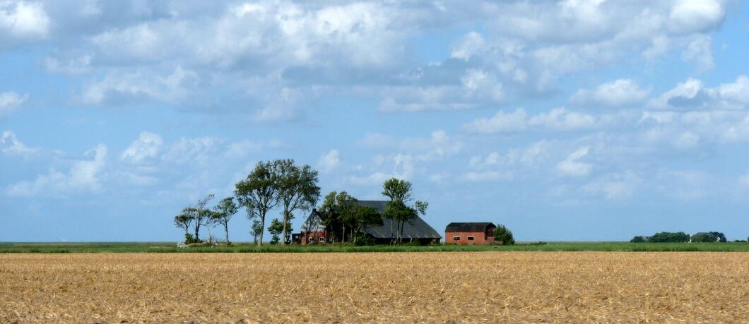 Landschap van het Hogeland in Groningen