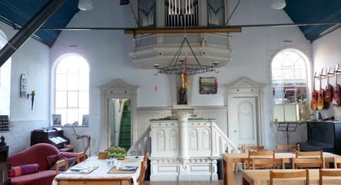 Kerkje van B&B Slapen in het orgel