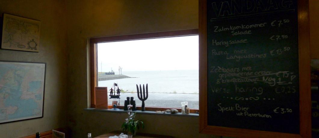 Uitzicht op de Waddenzee bij restaurant 't Ailand