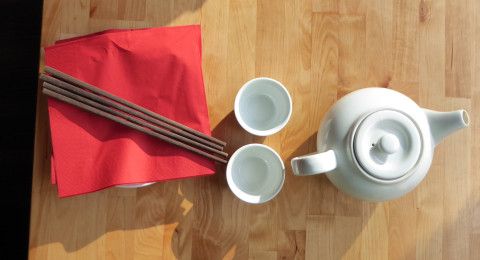 Eenvoudige inrichting bij Chinees restaurant Beijing Bao