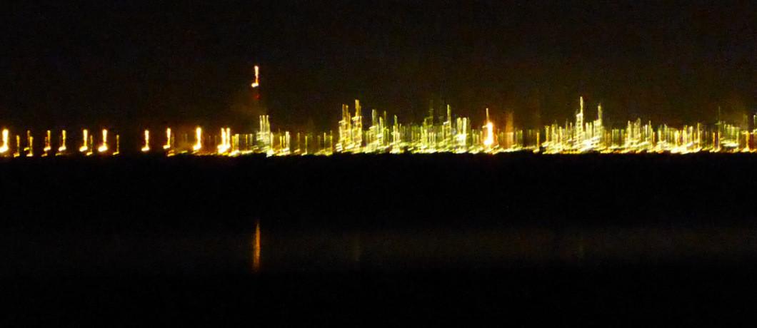Lichten van de haven van Antwerpen