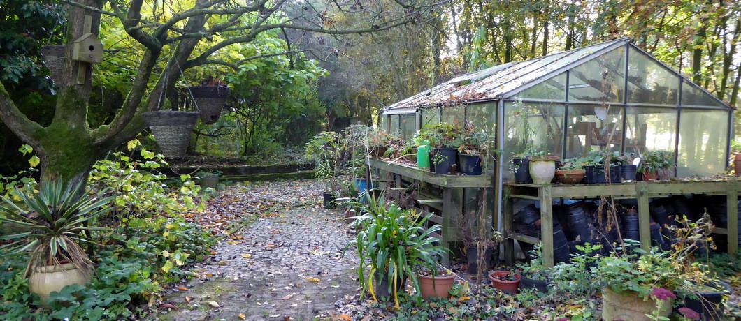 Kas in de tuin van Kasteel Baexem