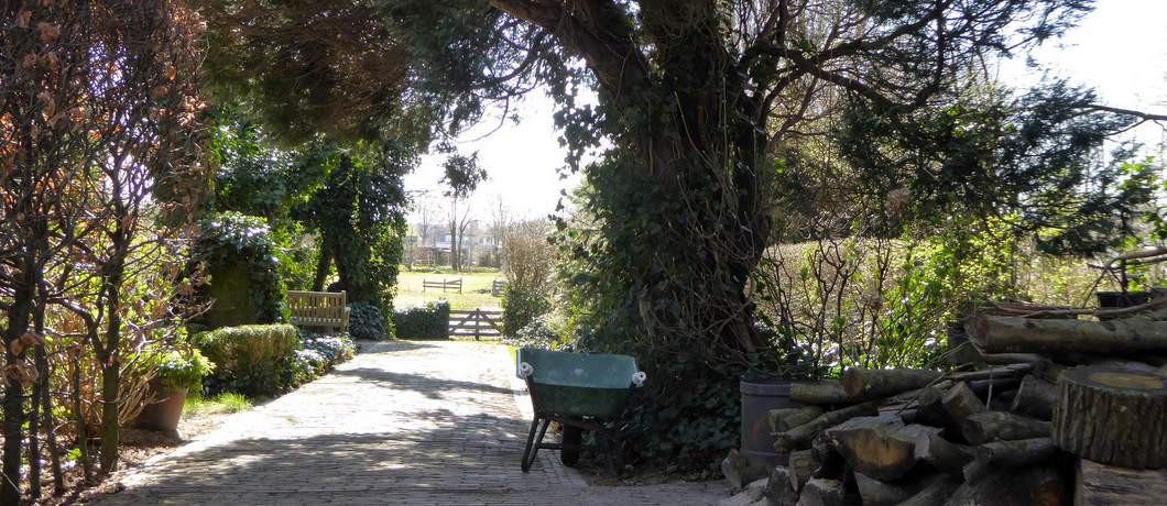 Uitzicht bij begraafplaats Huis te Vraag