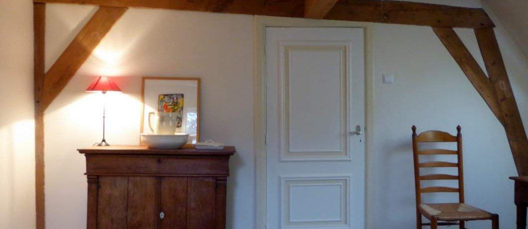 Balken slaapkamer Cornelia's Tuinhuis