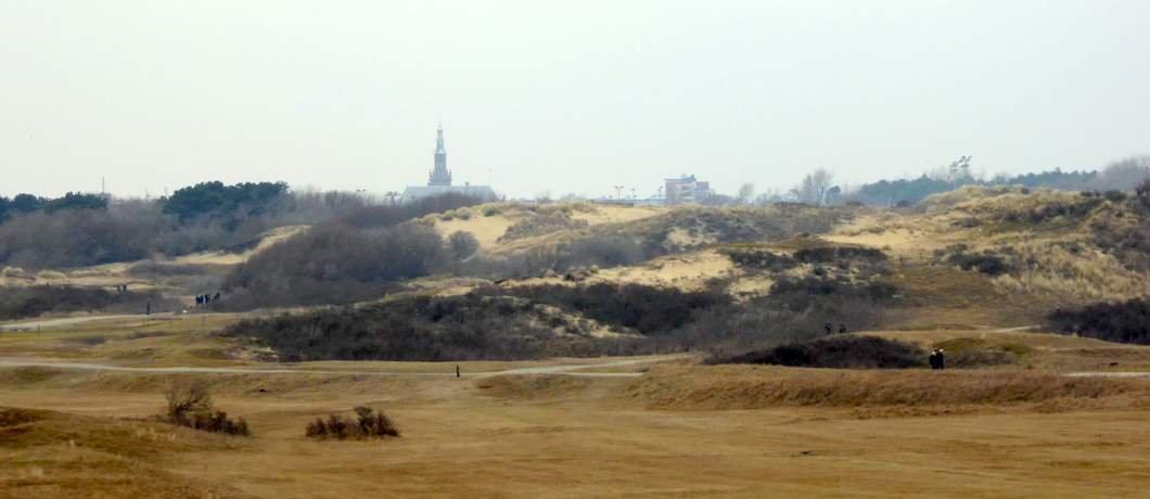 Uitzicht op Katwijk vanuit Hollands Duin
