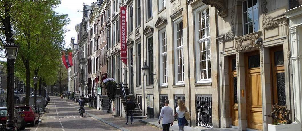 Gevel Cromhouthuis aan de Herengracht in Amsterdam