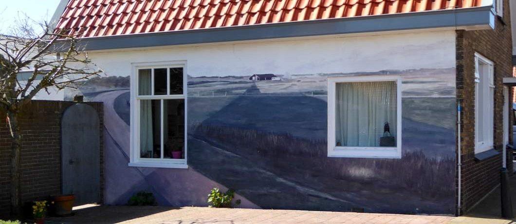 Muurschildering in Den Hoorn op Texel