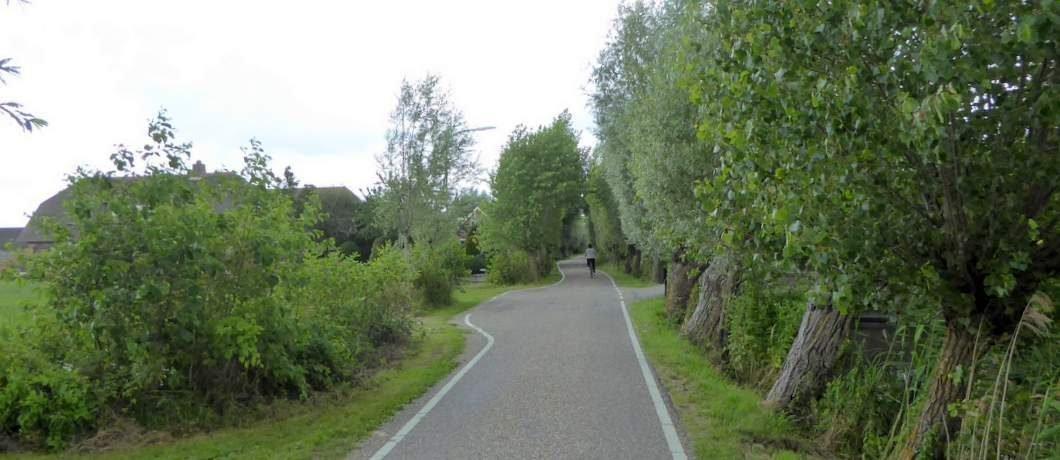 Kronkelende landweg door het Groene Hart