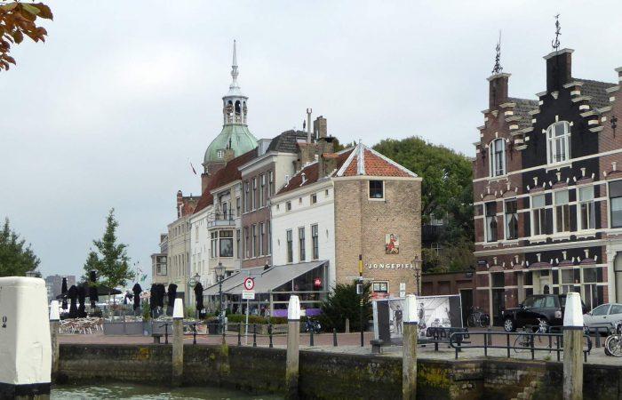 Uitzicht op het Groothoofd van Dordrecht