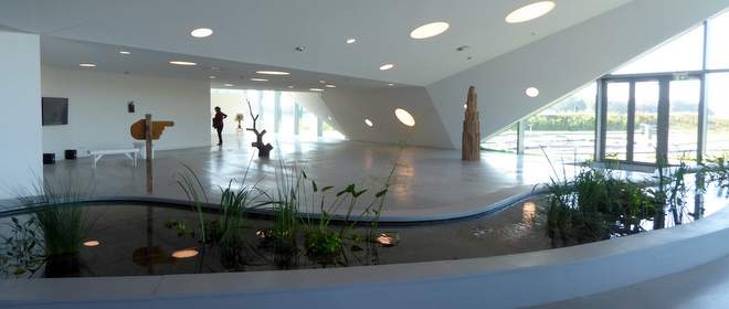 Binnen in museum Biesbosch Museumeiland bij Dordrecht