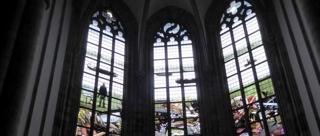 De kerkramen van Teun Hocks in Dordrecht