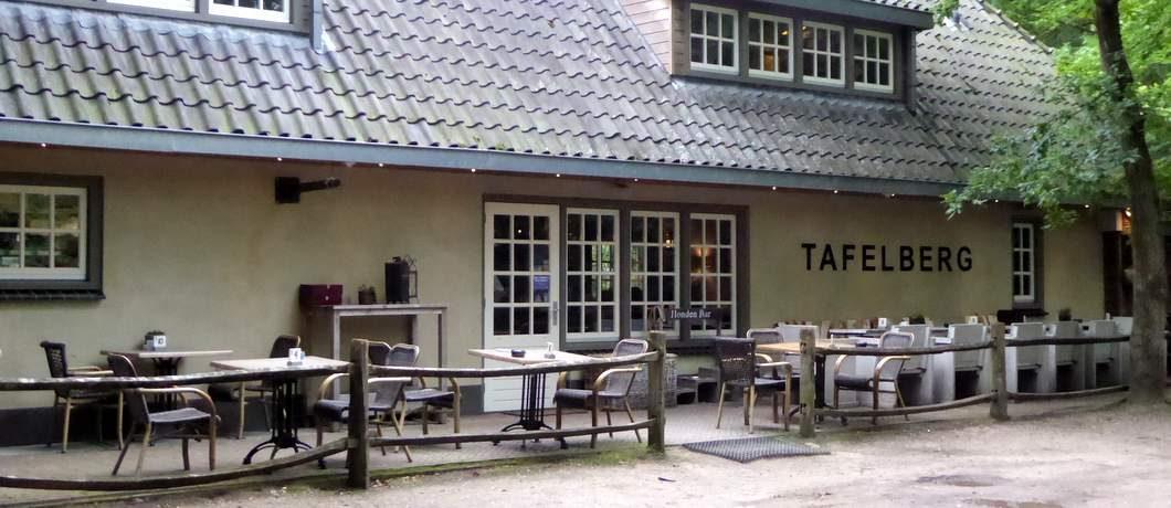 Restaurant Tafelberg beginpunt van de rondwandeling door het Gooi