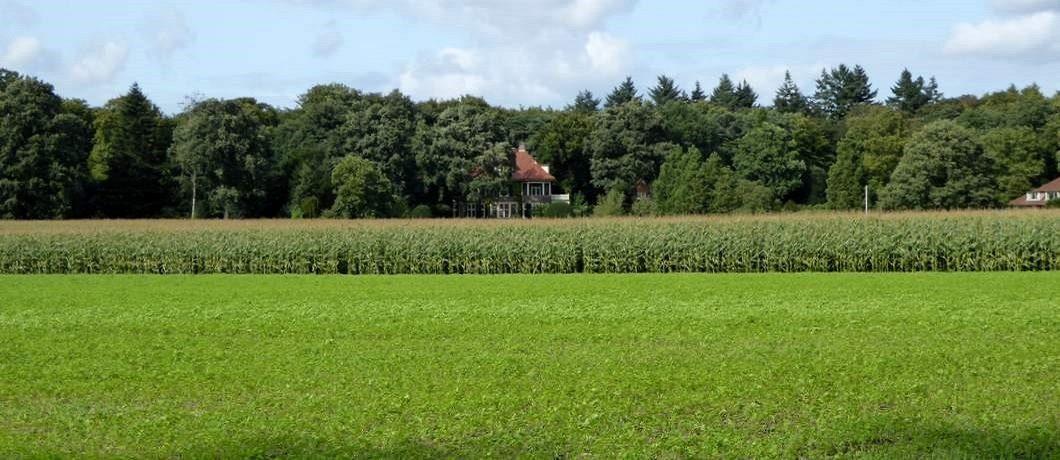 Villa langs de rand van het veldbij Trage Tocht Blaricum