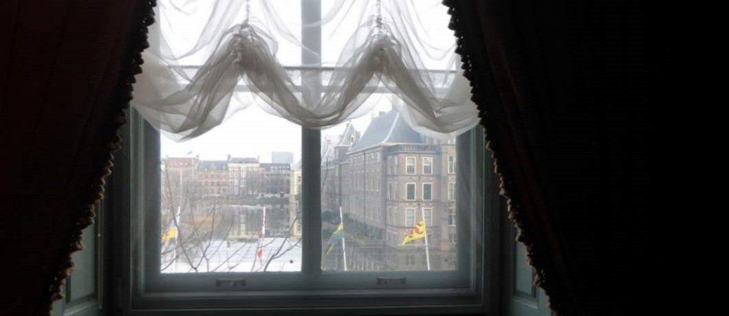 Uitzicht op de Hofvijver vanaf Galerij Prins Willem V