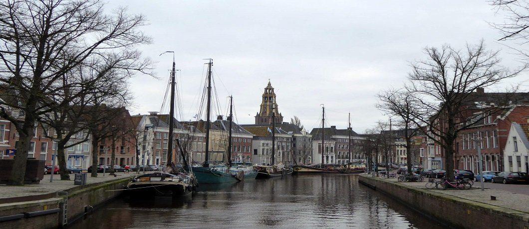 De oude haven van Groningen