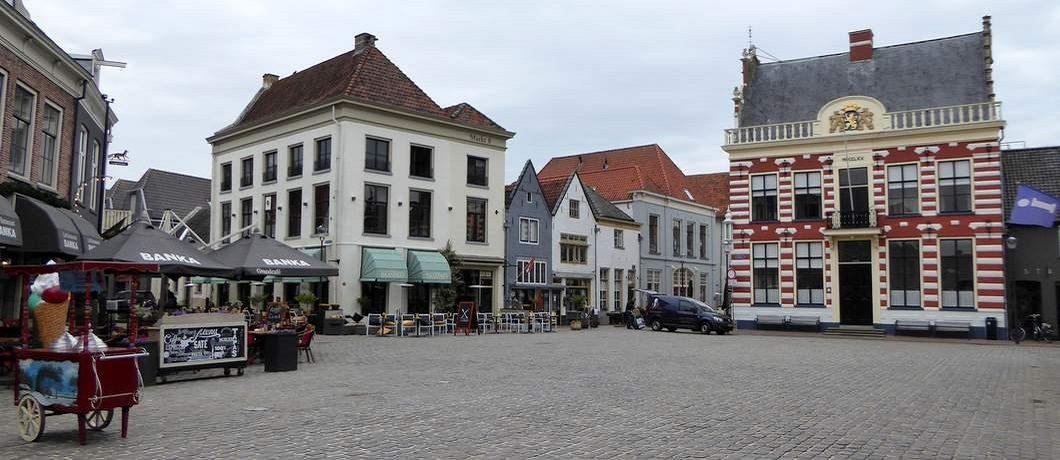 Markt historische binnenstad Hattem