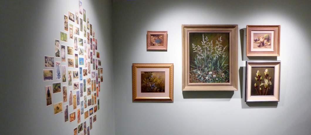 Schilderijen van Voerman junior in het Voerman museum in Hattem