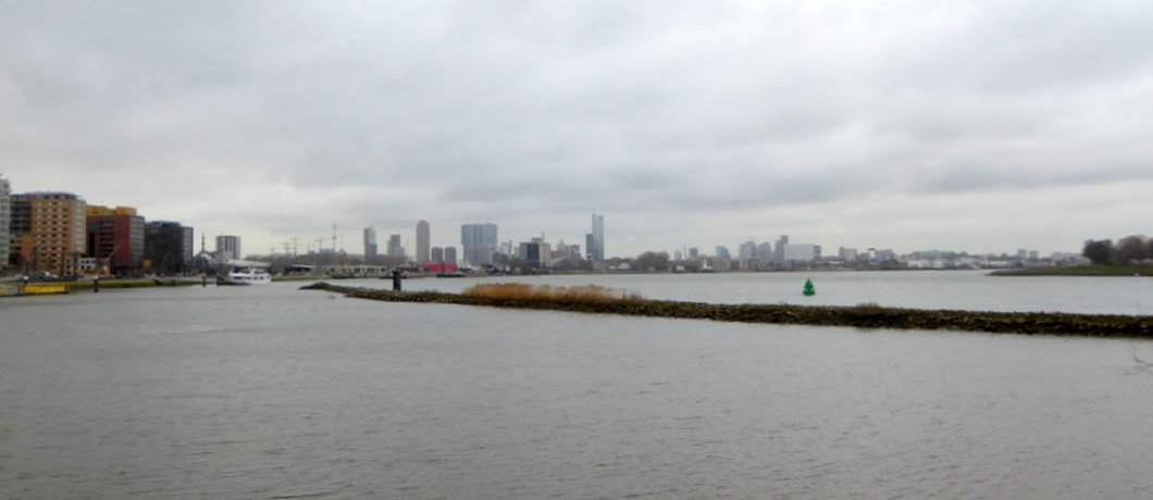 Skyline Rotterdam Eiland van Brienenoord