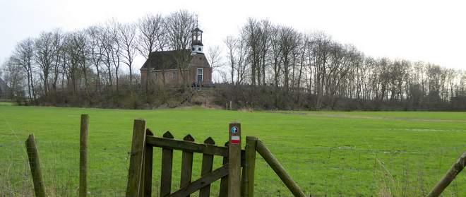 Het Friese landschap bij B&B Op de vlakte